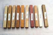 MIXED CONFEZIONE DA 10 SPAZI LEGNO PER LA TORNITURA DELLA PENNA e piccoli progetti lavorazione del legno