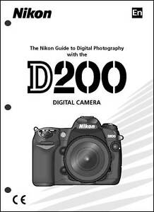 nikon d200 user manual guide instruction operator manual ebay rh ebay com nikon d60 manual pdf english nikon d60 guide pdf