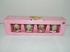 Marilyn Monroe Set of 4 Shot Glasses   NIB
