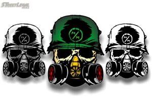 White Background METAL MULISHA Death Squad 6.25 Decal FMX Race Army Helmet Hoodie Skull Sticker