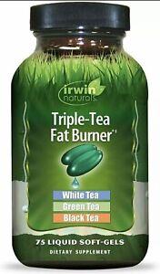 Irwin Naturals - Triple-Tea Fat Burner - 75 Softgels exp 01/21 New
