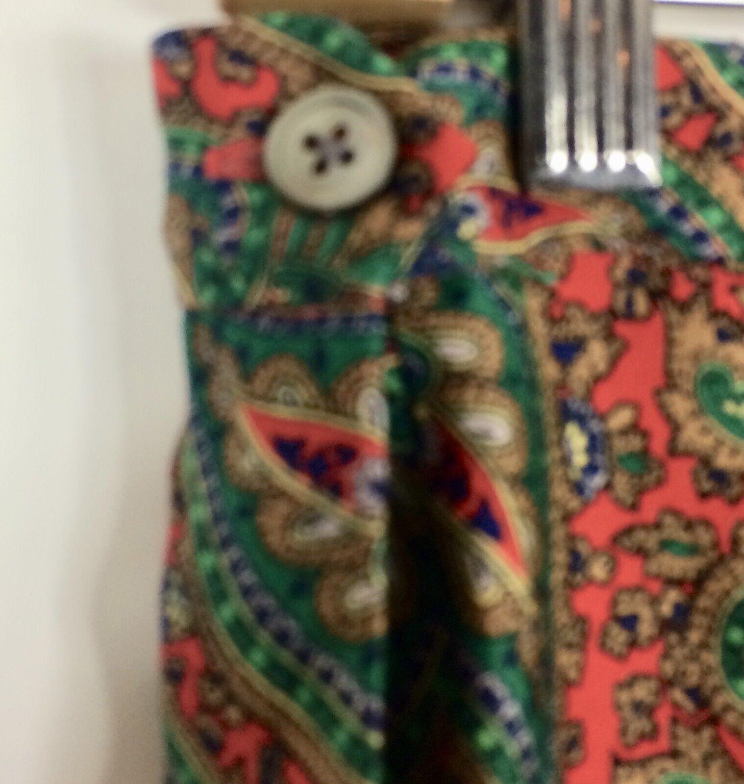 Ralph Lauren Maxi Skirt Red Green Paisley Print R… - image 7