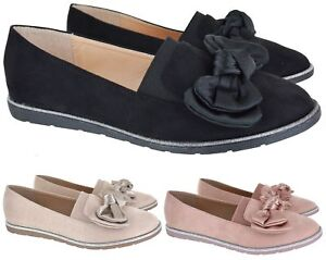 25c241e5686 WOMEN FLAT WORK CASUAL COMFY LOAFERS LADIES STYLISH EVERYDAY OFFICE ...