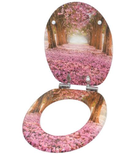 Wc Siège Couvercle De Toilettes Abattant Abattant Abattant Lunettes avec automatisme de descente ROMANTISME