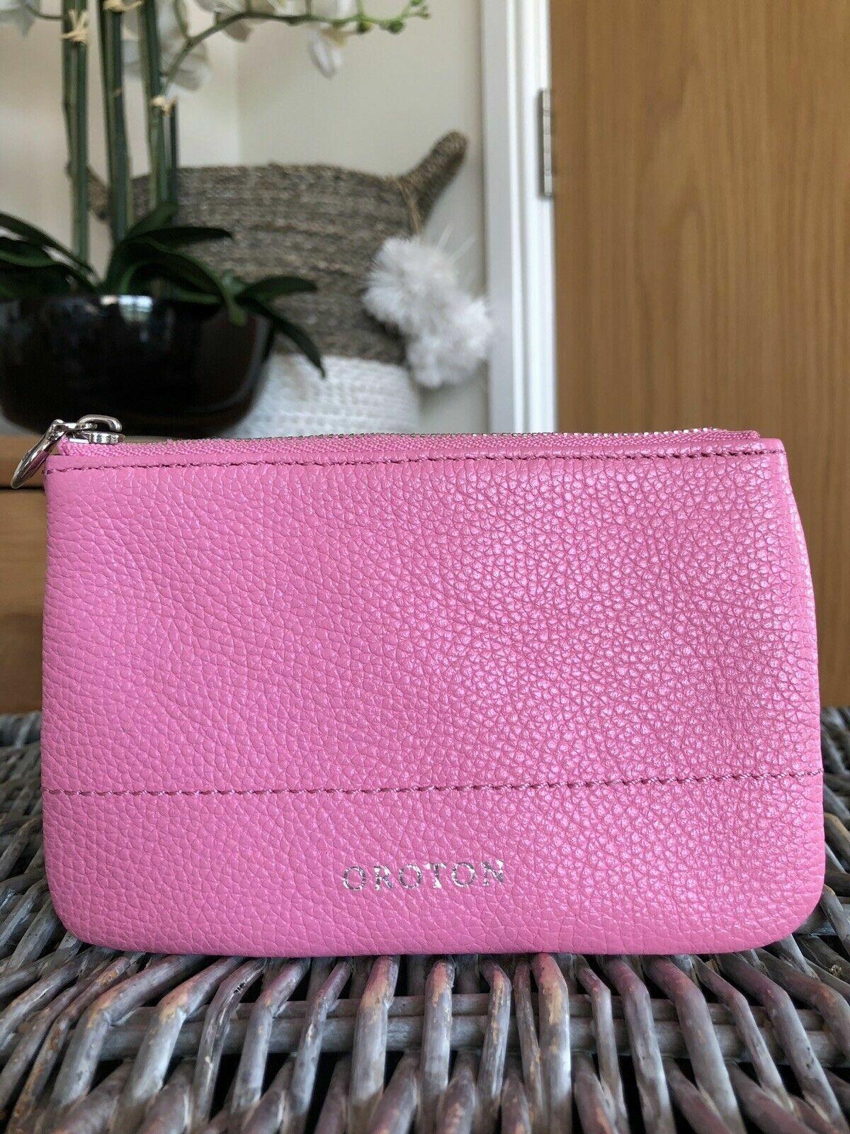 OROTON Pink Genuine Leather Coin Purse vgc