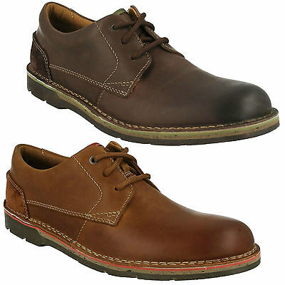 EDGEWICK PLAIN MENS CLARKS LEATHER LIGHTWEIGHT LACE UP SMART CASUAL SHOES SIZE   eBay