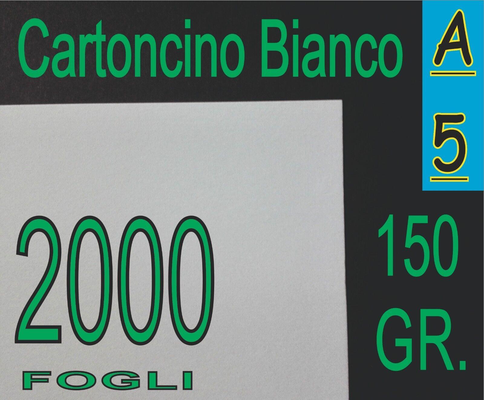 2000 FF CARTA BIANCA OPACA gr 150 x Stampante Laser e Inkjet A5