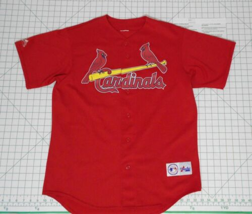 L pour Majestic Mcgwire St Louis Cardinals Taille Genuine hommes Jersey Mlb Chemise nxRU8O0wU