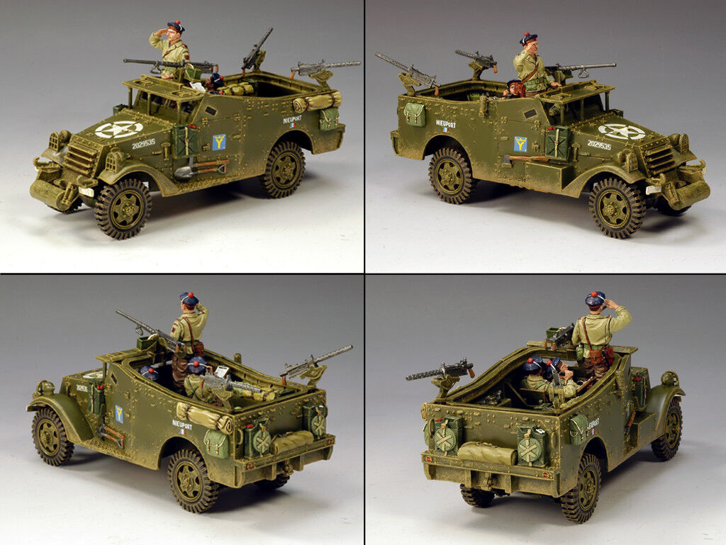 KING AND COUNTRY Free French Scout Car WW2 DD103