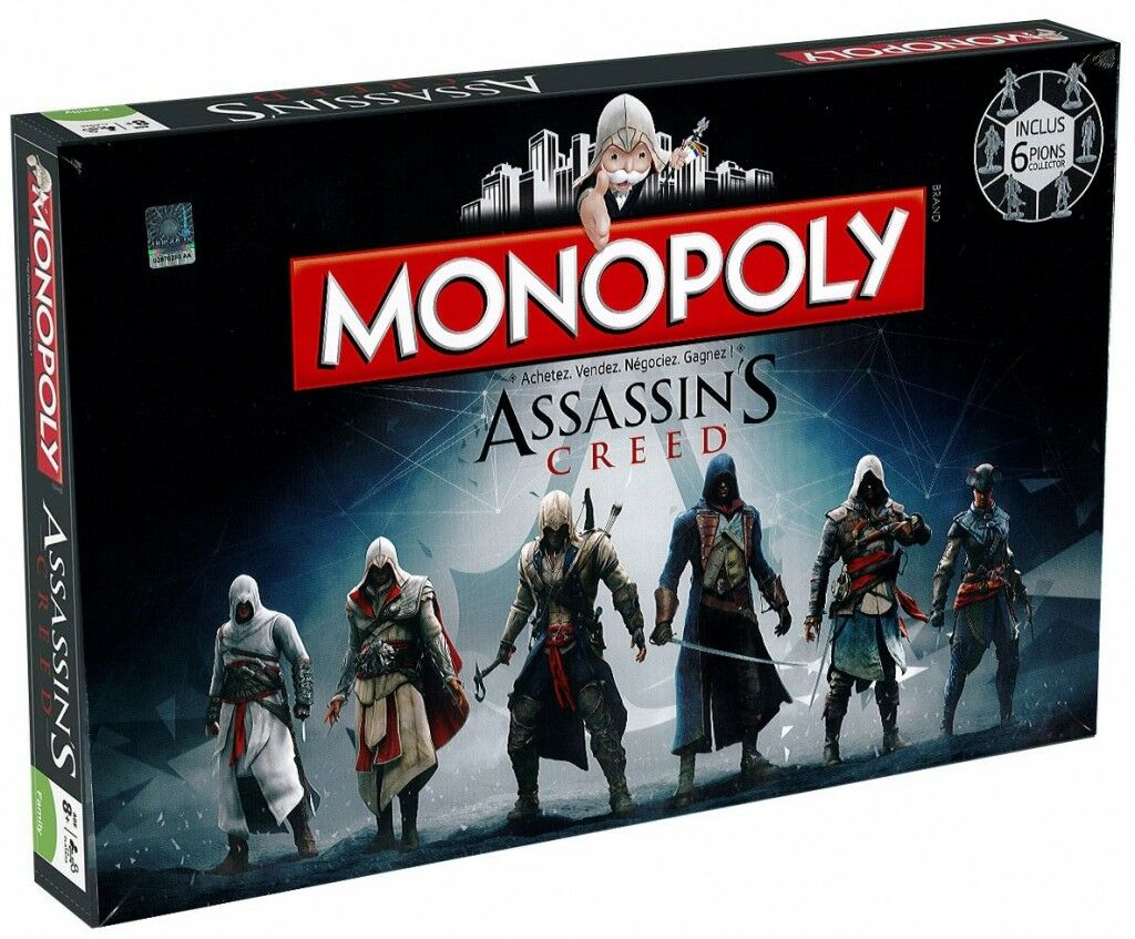 Monopoly Assassin's Creed - Set company Version French Hasbro Gaming New