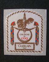 Étiquette Guerlain Paris Eau De Cologne Du Coq Petit Modèle
