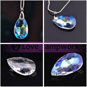 Teardrop Faceted Crystal Rhinestone Glass Loose Spacer Beads 7x5mm 12x8mm U Pick
