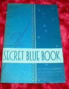 039-36-H-C-EVANS-catalog-SECRET-BLUE-BOOK-w-1941-price-list-crooked-gambling-cheat