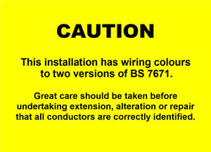 50 electrical caution harmonised labels mixed wiring stickers 100 rh ebay co uk Wire Numbering Labels mixed colour wiring labels