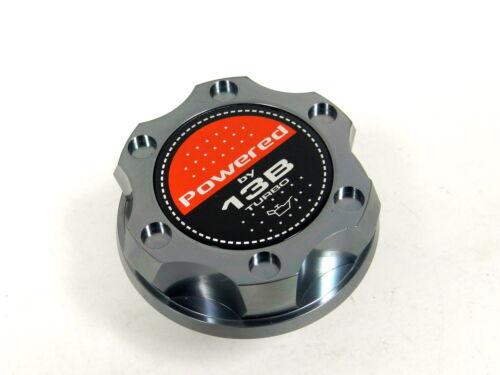 GUNMETAL BILLET RACING ENGINE OIL FILLER CAP MAZDA RX7 RX8 13B TURBO
