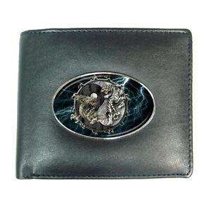 Dragon tiger yin yang credit card holder money wallet for for Dragon gifts for men