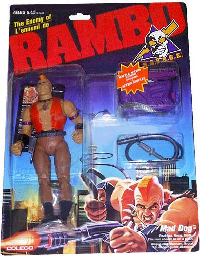 Rambo - S. a. V. a. G. E. , The Enemy Of Rambo, Mad Dog Figur,Neu   Mosc