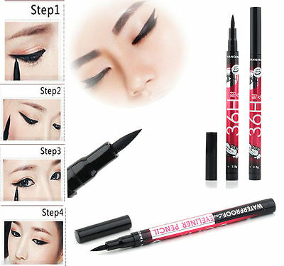 Black Eyeliner Waterproof Liquid Make Up Beauty Comestics Eye Liner Pencil LA