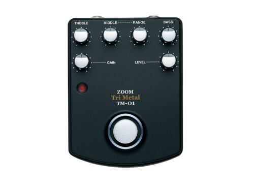 ZOOM TM-01 TRI METAL HEAVY DISTORTION GUITAR EFFECTS PEDAL