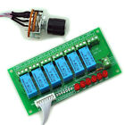 6 Channel Unbalanced Stereo or Balanced Mono Audio Input Selector Relay Module,C