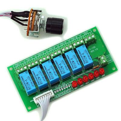 6 Channel Unbalanced Stereo or Balanced Mono Audio Input Selector Relay Module