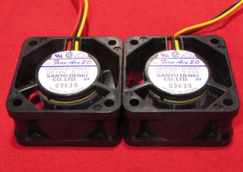 2 Pcs Sanyo Denki 40mm 12V DC 0.11A Cooling Fan Fine Ace 20 12VDC 109P0412H601