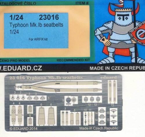 Eduard Typhoon Mk.ib Ceintures de Sécurité Pièces 1:24 Pour Airfix Modèle-kit
