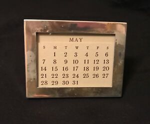 Tiffany Co Sterling Silver Vintage Perpetual Desk Calendar Or