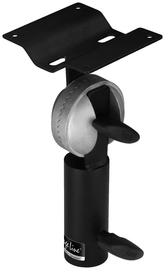 Monacor PAST-68 / Black White Plug IN Tilting Adapter With Mounting Plate