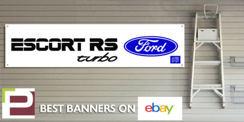 Ford Escort RS Turbo garage banner heavy duty for workshop