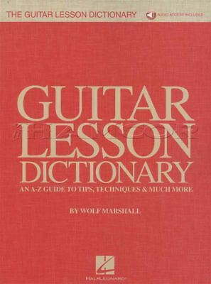 Guitar Lesson Dictionary Tab Music Book With Audio A-z Guide Tips & Techniques
