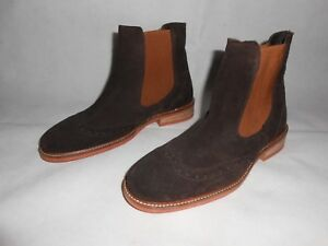 Botseu39 White Rrp Suede Chelsea £ 160 John Uk6 Brown New x5tq01Xwfn