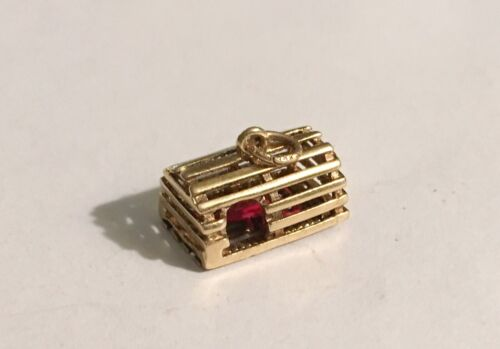 Antique 14k Charm/Drop With Lobster In A Lobster C