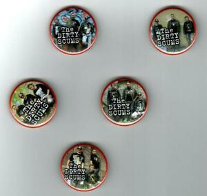 Badge Button Pin - The Dirty Scums - 38 mm