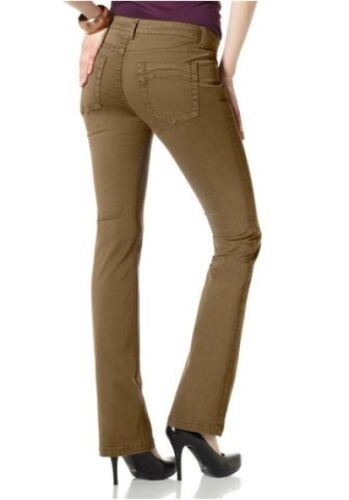 Laura Scott Jeans NUOVO taglia 36-46 Straight Donna Marrone coloured Pantaloni Stretch l32