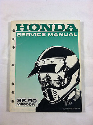 HONDA XR600R DEALER'S SERVICE MANUAL GUIDE 88-90 1988 1989 1990