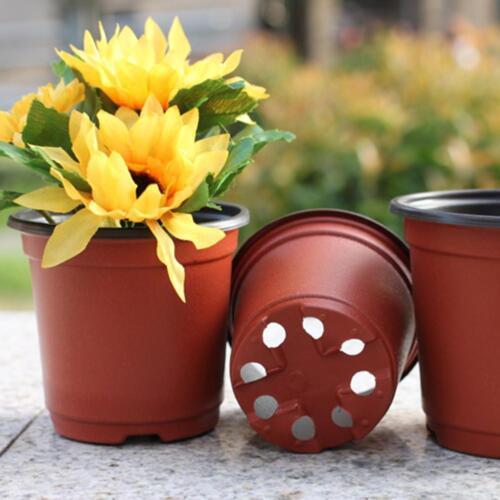 10 Stück Blumentöpfe Blumentopf Garten Unzerbrechlich Kunststoff Töpfe Decor//