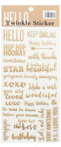 XOXO Diary gold stickers Daily Planner stickers Hello Love birthday