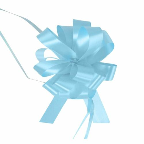 Wedding Florist Pullbows Pull Bow Pew Car Ribbon 18mm 30mm 50mm Size Baby Blue