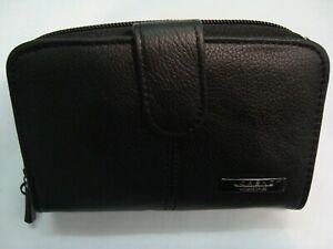 Leather-Purse-Wallet-Organizer-with-Large-Zip-Around-Coin-Pocket-Black-RFID