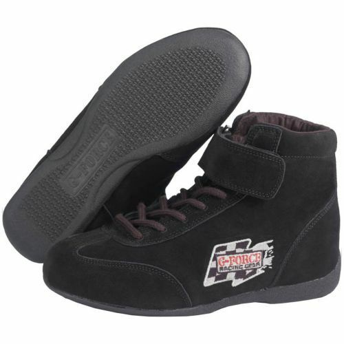 G-Force Racing Gear 0235120BK Size 12 GF235 RaceGrip Black Mid-Top Driving Shoes