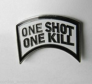 US Army One Shot One Kill Sniper Lapel Pin
