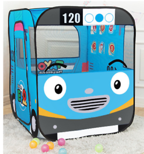 Korean The Little Bus Tayo Playball Indoor Foldable Tent with 100 Plastic Ball