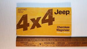 1986-JEEP-Cherokee-4x4-Original-Owners-Manual-Good-Condition-US