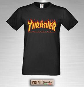 T-shirt-Imprimee-Thrasher-T-shirt-Idee-Cadeau-Homme-Femme-Garcon-Fille