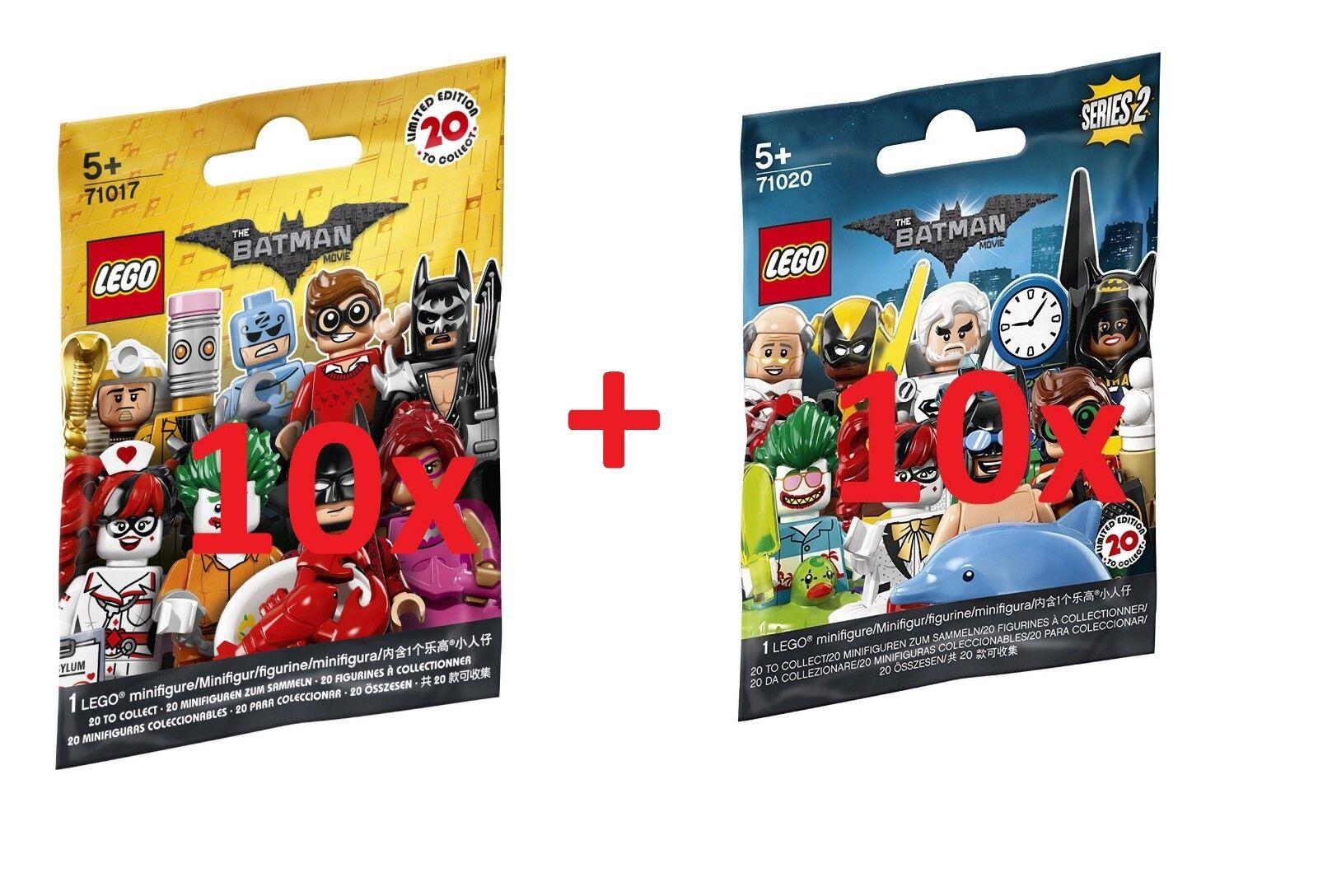 LEGO® 10x 71017 + 10x 71020 - Minicifras Polyborsa  The Batuomo Movie Series 1 + 2  miglior prezzo migliore
