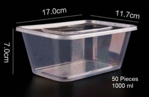 Disposable Microwavable Plastic Food Storage 50pcs//Pack Thick Square Container