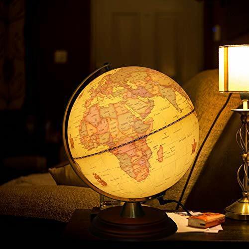 Nak Globes Illuminated World Globe Built In Multicolor 12 Inch Led Light Remote For Sale Online Ebay