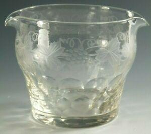 """VINTAGE Crystal - FRUITING VINE Cut - Rinser Glass / Glasses - 3 3/4"""""""