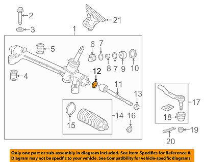 Genuine Honda Inner Tie Rod Spacer 53537-S84-A01
